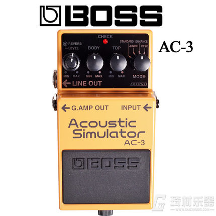 Boss Audio AC-3 Acoustic Simulator Pedal, Acoustic Guitar Modeling Pedal for Electric Guitars acoustic