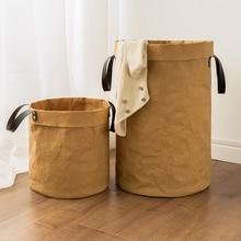 1 шт. 40*65 см крафт-бумага складная корзина для хранения мелочей детские игрушки коробка для хранения грязного белья корзина сумка Одежда игрушки корзина для хранения
