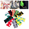 Winter 10 Pairs colorful Women Men Fashion Harajuku Style Long Maple Leaf Socks Hip Hop Socks Soft Weed Socks by Random Color