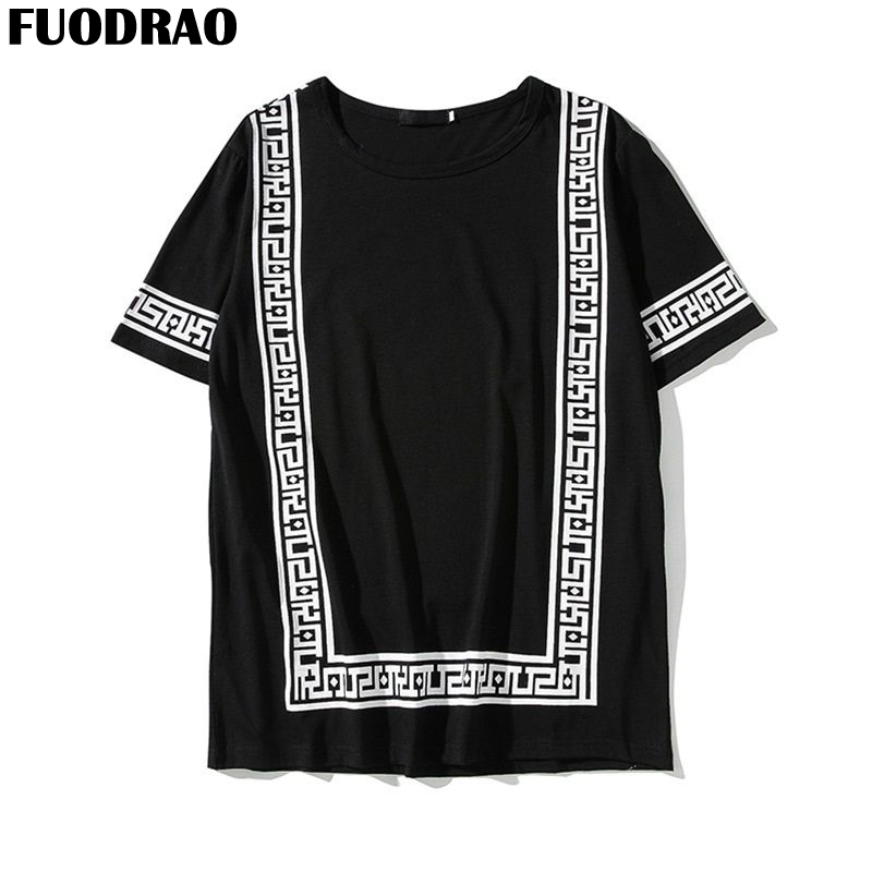 FUODRAO Harajuku Streetwear T Shirt Men Fashions <font><b>Funny</b></font> <font><b>Tshirt</b></font> Men Japan Style Summer T Shirt Hip Hop T-Shirt Men 5XL T686 image