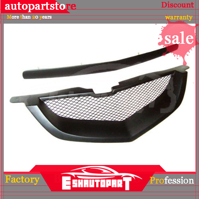 FOR PEUGEOT 207 2009-2012 FRONT UPPER CENTER LOWER GRILLE CHROME SET 3 PIECES