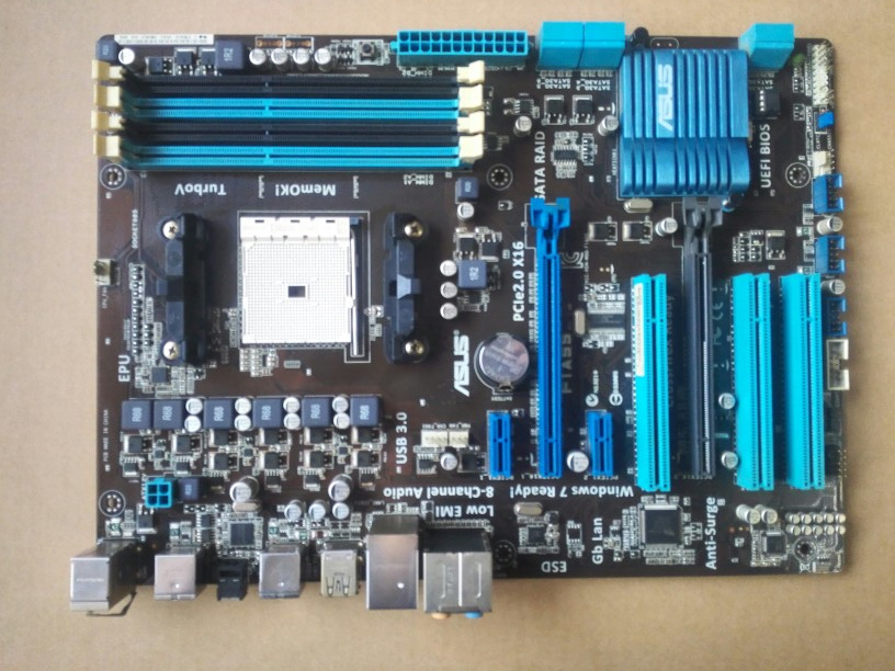 Used,Asus F1A55 Original Motherboard A55 Socket FM1 DDR3 64G SATA2 USB3.0 ATX free shipping original motherboard for asus f1a55 v plus socket fm1 ddr3 boards a55 desktop motherboard