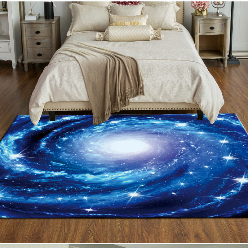 Modern Simple Starry Sky Theme Carpets For Living Room Bedroom Area Rugs Creative Galaxy Space 3D Printed Home Soft Mats/Carpet