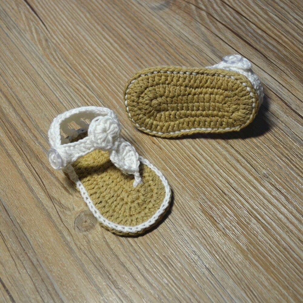 QYFLYXUE-Freeshipping dziecko Crochet shoes, noworodka rozmiar 0-12 M - Buty dziecięce - Zdjęcie 4