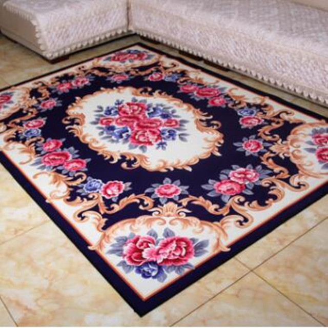 European style Carpet Modern Fashion Floral Pattern Anti-slip pad large Area carpets for Living room rug Bedroom Decorate Rugs