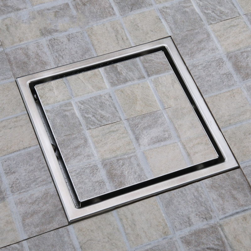 304 Stainless Steel Tile Insert Square Floor Drain Waste Grates Bathroom Invisible Shower 150 X 150mm In Drains From Home