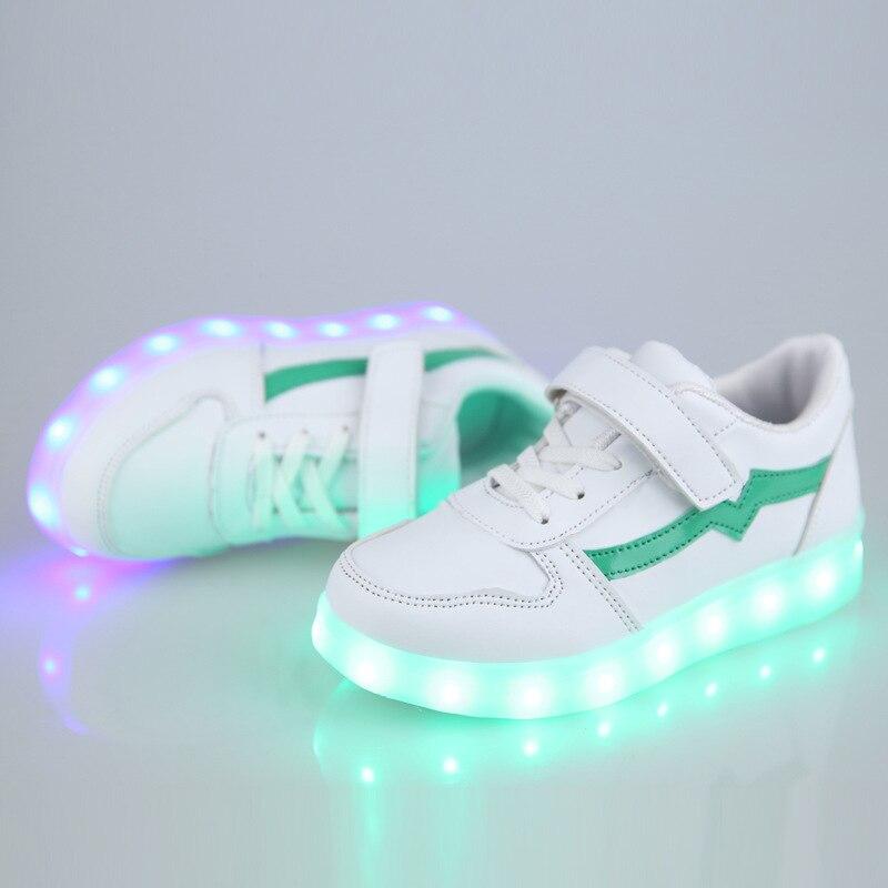 Kids USB Shoes Light UP Kids Casual Boys&Girls Sneakers Glowing Shoes for Big Kids Luminous Sneakers USB Charging Shoe High adidas samoa kids casual sneakers