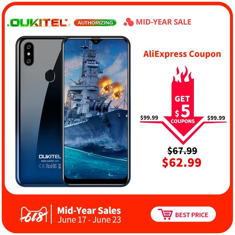 Oukitel C15 Pro 2 GB 16 GB Android 9,0 MT6761 teléfono móvil Pantalla de gota de agua teléfono inteligente 4G LTE 2,4 g/5G WiFi huella Face ID