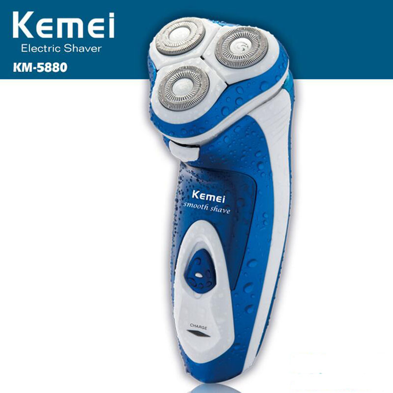Kemei Electric Razors For Men Triple Blades Men's Electric Shaver Face Beard Trimmer Rechargeable Shavers AC 220V new brand kemei km a588 electric shavers razor blades travel use safety professional shaver for man maquina de afeitar electrica