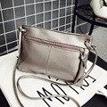 Envelope Mulheres Messenger Bags Sólidos Moda Zíper Couro PU Pequenos Sacos de Ombro Saco Crossbody Feminino