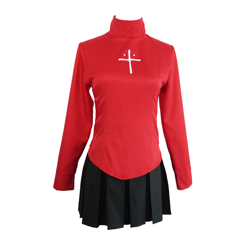 Anime Fate Stay Night Tohsaka Rin Uniform Shirt and Skirt Cosplay Costume Fate Zero Women Halloween Party Dress