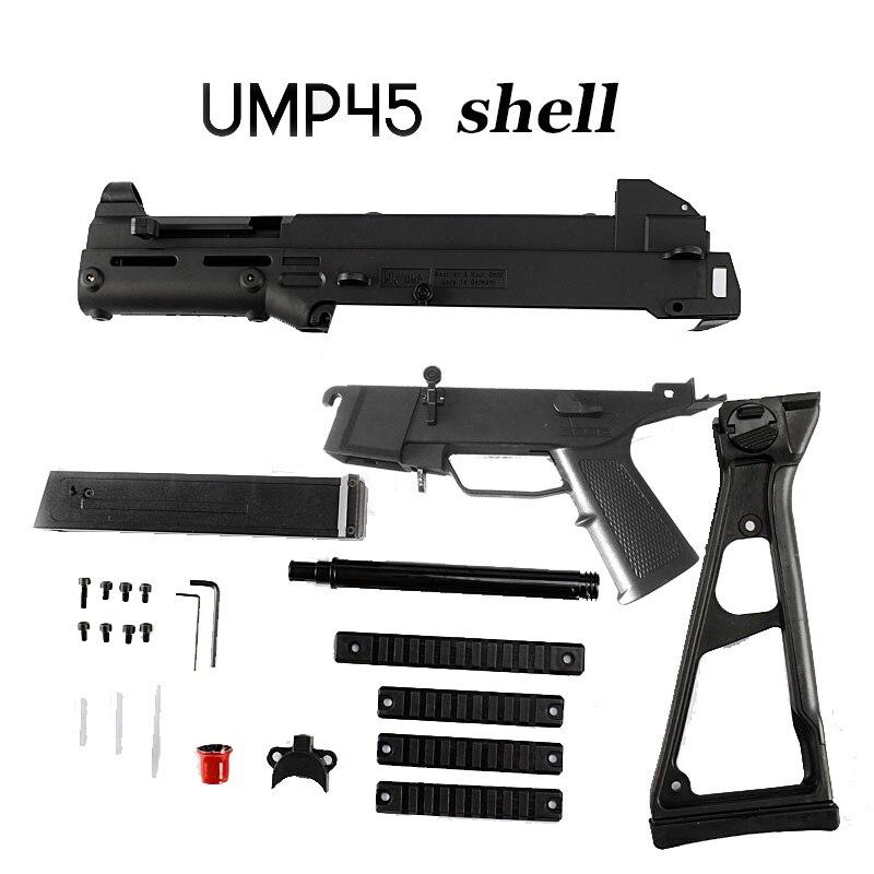 Ump 45 Shell Nylon Material Gel Ball Gun Accessories Toy Gun For Children Out Door Hobby