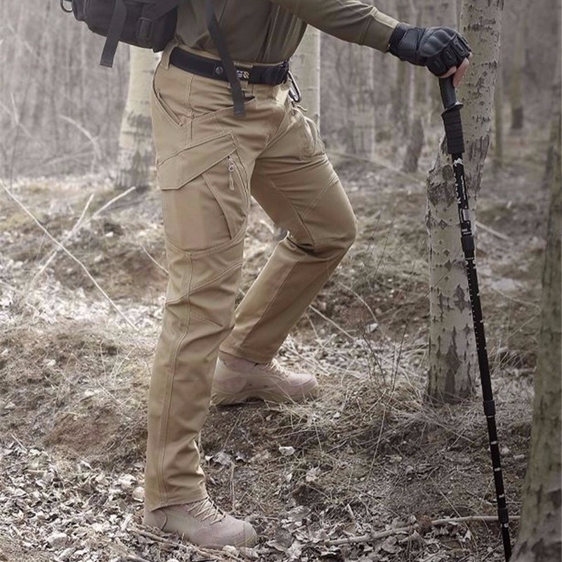 Randonnée Pantalon En Plein Air Softshell Hommes Militar Tactique Pantalon Cargo Étanche Thermique pour Camping Ski Escalade Chasse