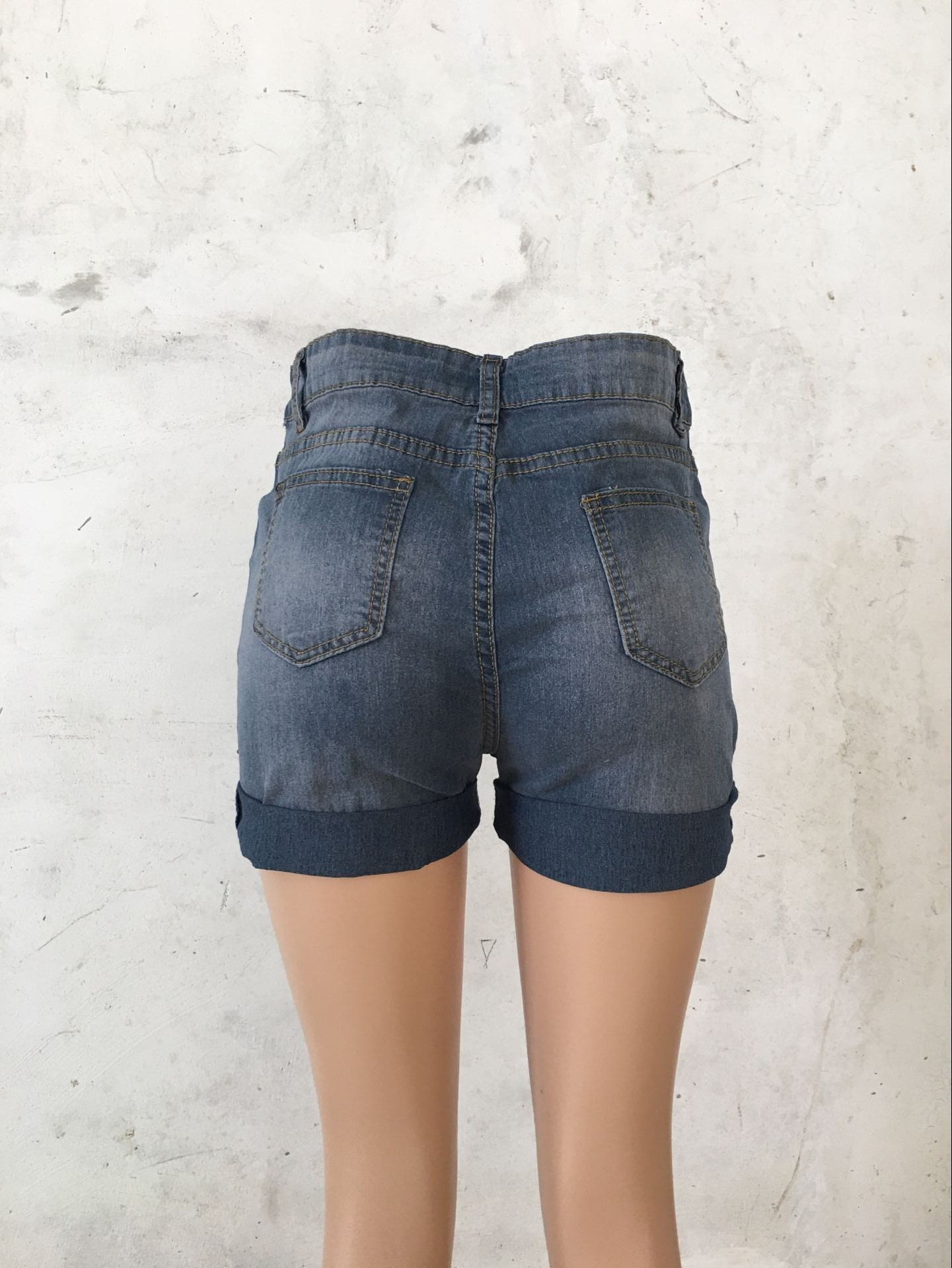 2018 Summer Hollow Out Sexy High Waist High Stretch Cowboy Shorts Female Hot Shorts Casual Denim Short Pants Women in Jeans from Women 39 s Clothing