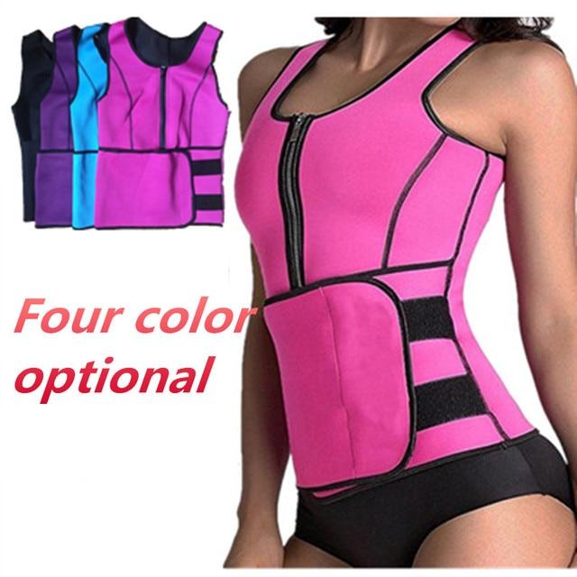 b1b7746458a BDLJ 2018 High Quality Neoprene Sauna Suit Tank Top Vest Waist Trimmer with Adjustable  Waist Trainer Belt Slim Waist Women Tops