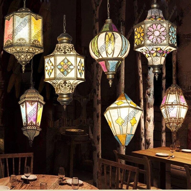 где купить Turkey ethnic customs handmade Mosaic lamp romantic Hotel cafe restaurant bar Pendant light living-room balcony stairs по лучшей цене
