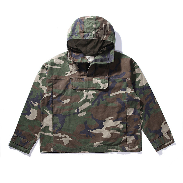 6fa54cc9c0a5e Fog FEAR OF GOD clothing tactical army kryptek camouflage jackets men coat  military anorak camo jacket windbreaker Justin Bieber