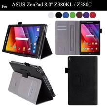 "ZenPad 8.0 Stand PU Leather Case For ASUS Zenpad 8.0"" Z380KL Z380C Flip Tablet Cover Case +protector"