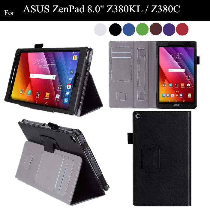 ZenPad 8.0 Stand PU Leather Case For ASUS Zenpad 8.0'' Z380KL Z380C Z380M Flip Tablet Cover Case +protector z380m