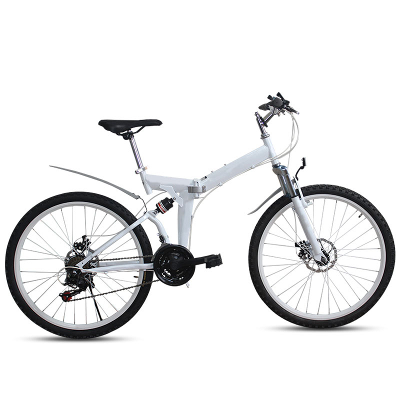 High Carbon Steel Frame Folding Bike/Bicycle Front And Rear Mechanical DIsc Brake/Bilateral Folding Pedal/7 Levelrear Derailleur