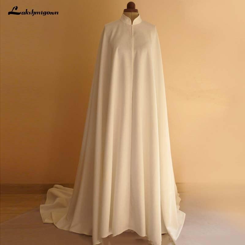 Wedding Gown Wraps: High Neck White Ivory Wedding Wraps Bride Jacket Bridal