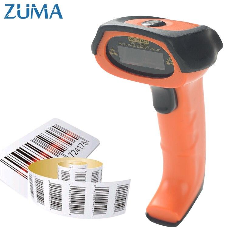 Zuma 1D промышленного уровня лазерный сканер проводной сканер штрих-кода 200 раз/S 32bit USB считывания штрих-кода Портативный ручной сканер 1300