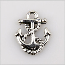 50pcs metal charm sea anchor Tibet silver jewelry making Charm pendant 17 mm