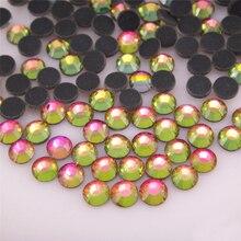 A++ Hotfix Rhinestones SS6-SS30 1440pcs Multi colors HotFix Flatback Glue back Crystal Stone For Garment Dresses Bags Hot sale цены