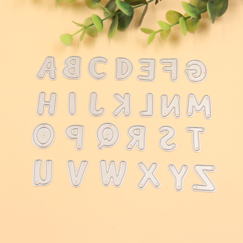 The alphabet die cuts metal die cutting dies scrapbooking for Large letter die cuts