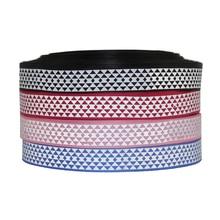5Y45167 1 25mm plaid ribbon high quality printed polyester ribbon 5 yards DIY handmade materials wedding