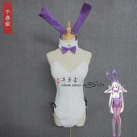 Re: Zero kara Hajimeru Isekai Seikatsu Emilia Bunny Girl costume cosplay orecchie + headress + collar + abito da polso + dress + code