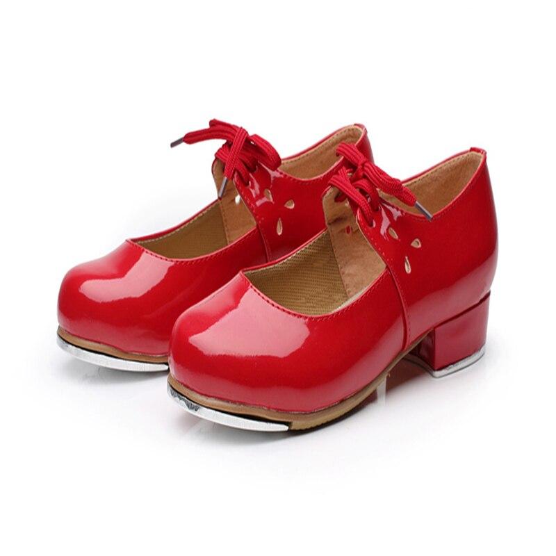 New Women children Kick tread shoes Dance shoes Practice dance Tap shoes PU high-noise aluminum plate dedicated Women shoe Hot