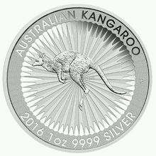 Free Shipping 100pcs/lot, 2016 Australia $1 1 Oz Silver Kangaroo Coin