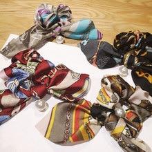 Vintage Women Head wear Turban DIY Bow Streamers Korean Style Hair Scrunchies Ribbon Accessories