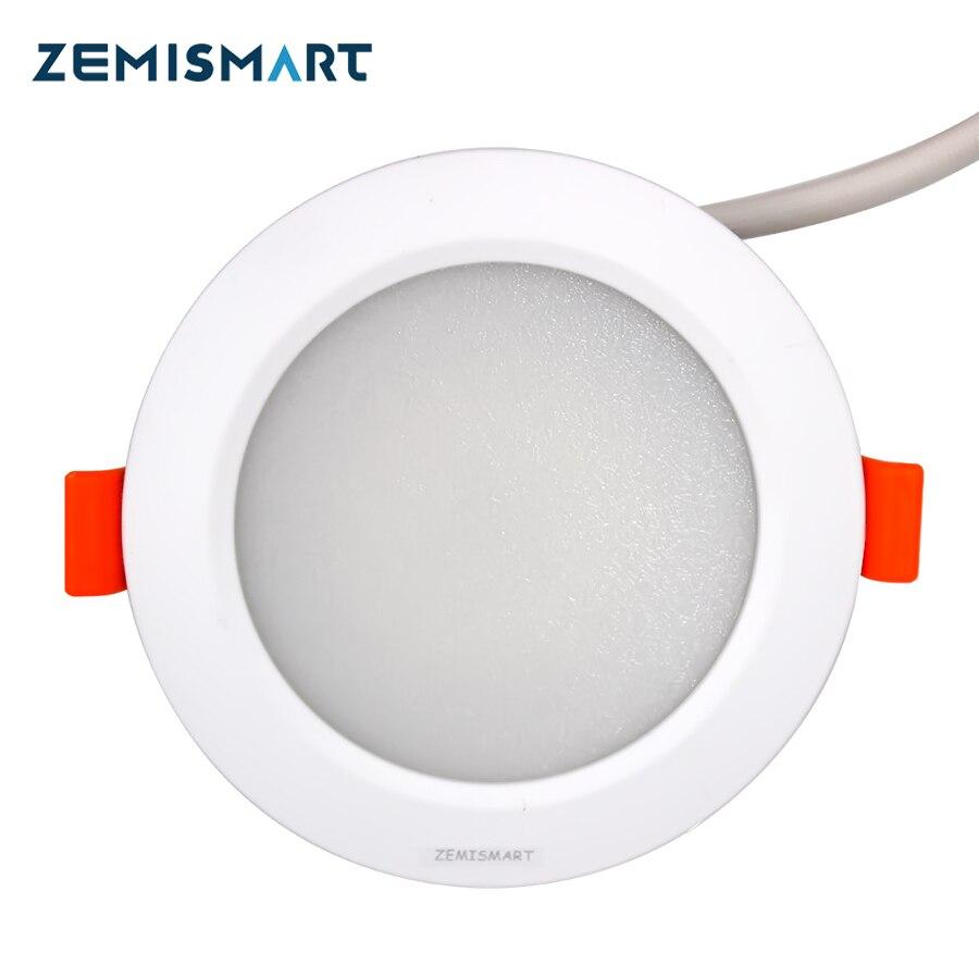 ZLL ZigBee 3.0 Smart RGBW Downlight 7W Led Bulb Light Work with Amazon Echo plus directly with echo and dot google home by hub jiawen zigbee bulb smart bulb wireless bulb app control work with zigbee hub free shipment