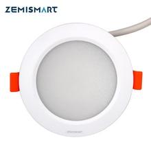 ZLL ZigBee 3.0 Smart RGBW Downlight Led Ampoule Lumière Travail avec Amazon Alexa Echo Googlehome de Smarthings Via zemismart Ou 3 partie hub