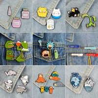 Super Schnäppchen Emaille Pin Sets! Cartoon TV Zeigen Koala Sloth Katze Frosch Pepe Ozean Herz Broschen Abzeichen Revers pins