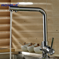 Waterfilter Taps Brand New Kitchen Sink Faucet Tap Pure Water Filter Mixer Dual Handles Chrome Finish