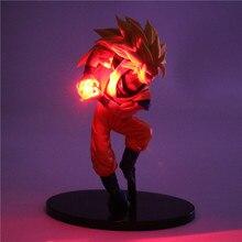 Dragon Ball Z Figurine Super Saiyan Action Figures Anime Toys LED Light