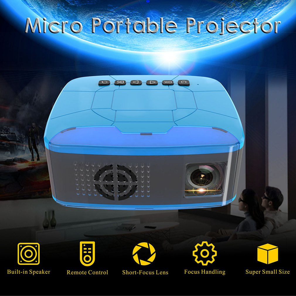 U20 LCD Full HD 1080P Mini Projector 500LMs Home Theater Cinema Movie LED Proyector AV/TF/USB/HDMI/IR/Inputs Portable Beamer NEW