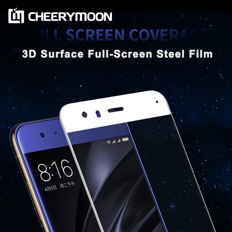 CHEERYMOON 3D Full Glue Oleophobic Coating For Xiaomi Mi 6 M6 Full Cover Screen Protector Mi