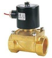 Высокое качество соленоиды водяной клапан процесс латунный клапан 1-1/4 ''резьбовые порты 2/2 способ латунь AC 220 V 2 шт в партии