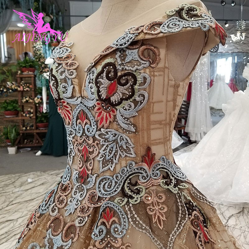 AIJINGYU Wedding Dress Spain Gowns Plus Bridle Gothic Clearance Bridal and Prices Gown Wedding Long Sleeve