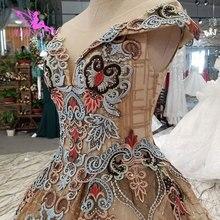 AIJINGYU الزفاف اللباس اسبانيا أثواب زائد اللجام القوطية التخليص الزفاف والأسعار ثوب الزفاف طويلة الأكمام الصورة الحقيقية
