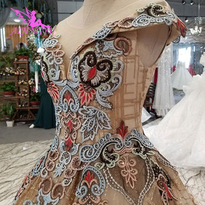 Image 1 - Aijingyu 웨딩 드레스 스페인 가운 플러스 bridle 고딕 통관 신부 및 가격 가운 웨딩 긴 소매 진짜 사진