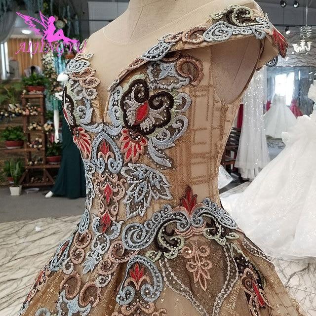 Aijingyu 웨딩 드레스 스페인 가운 플러스 bridle 고딕 통관 신부 및 가격 가운 웨딩 긴 소매 진짜 사진