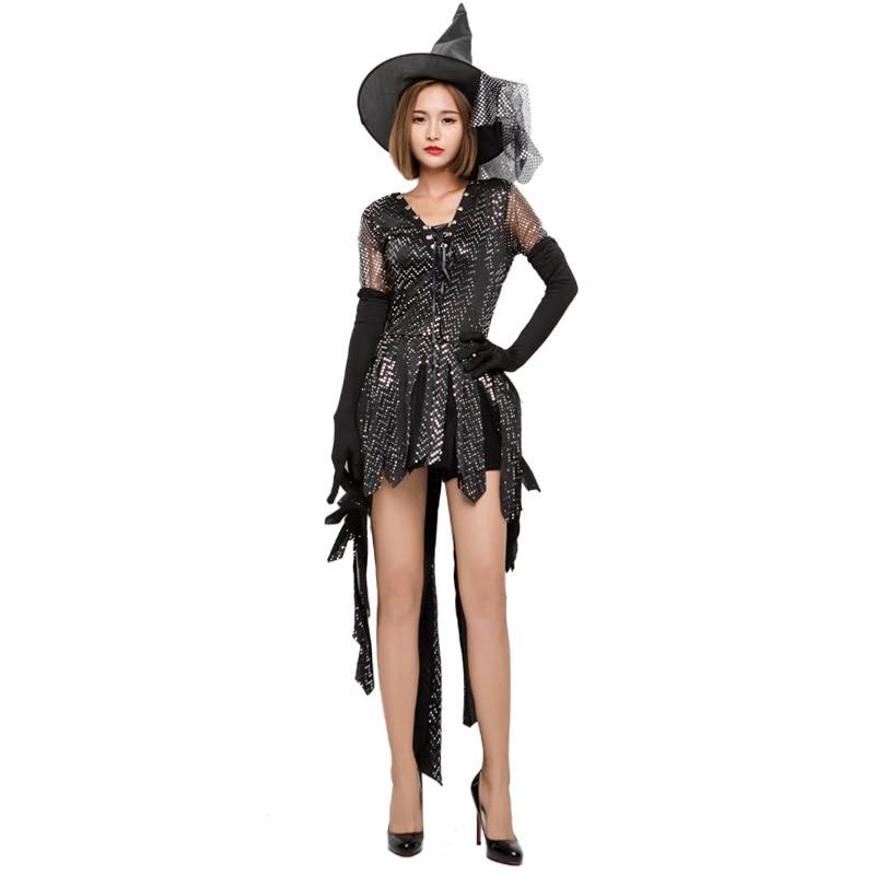 013ed539066 New Black Witch Dress Cosplay Costume Halloween Costumes Night Club ...