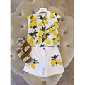 2016 New Girl Summer Shorts Printing Girls Set Flower Children Clothing Set For Girls Princess Girls Clothing Set