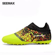 2017 Original Indoor Soccer Shoes Men Athletic Leather Soccer Cleats Football Boots Grass Sport Chuteira Futsal High Quality