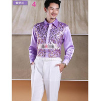 Men's shirt dress shirt Shiny sequins Men Wedding Groom Shirts banquet party gown Many Color available Sequins